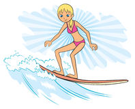 surfer de fille Image stock