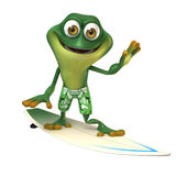 Surfer de grenouille Photo libre de droits