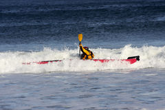Surfer de kayak Photos libres de droits