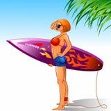 Surfer de Madame Photos stock