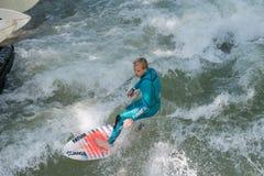 Surfer de Munich Image libre de droits