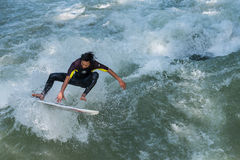 Surfer de Munich Photos stock