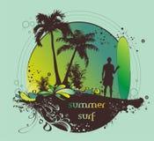 surfer de plage Images libres de droits