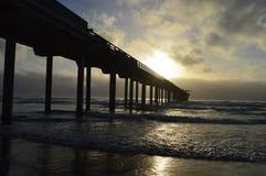 Surfer de plage de La Jolla Image stock