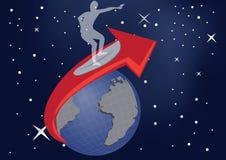 Surfer de planète images libres de droits