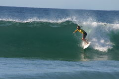 Surfer de professionnel de Chris Davidson Images libres de droits