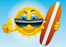 Surfer de Sun Images libres de droits