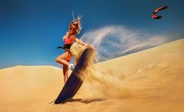 Surfer des Drachens Boarding Lizenzfreie Stockfotos