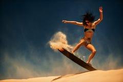 Surfer des Drachens Boarding Stockbild