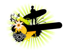 Surfer design Royalty Free Stock Photo