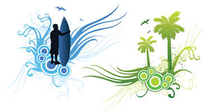 Surfer design Stock Image