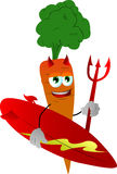 Surfer devil carrot Royalty Free Stock Photography