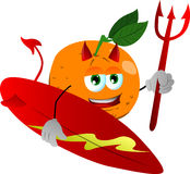 Surfer devil orange Royalty Free Stock Image