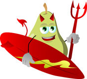 Surfer devil pear Royalty Free Stock Image