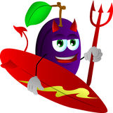 Surfer devil plum Stock Images