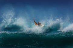 Surfer die de golf eisen Royalty-vrije Stock Foto