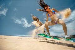 Surfer du cerf-volant Boarding images libres de droits