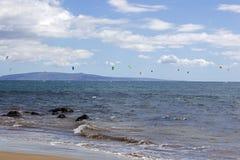 Surfer du cerf-volant Boarding Photos stock