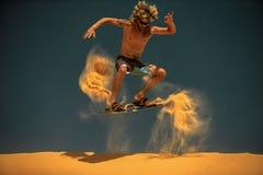 Surfer du cerf-volant Boarding Image libre de droits