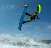 Surfer du cerf-volant Boarding Photographie stock