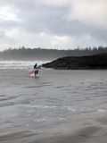 Surfer Dude. A surfer on Long Beach, in Tofino, BC Royalty Free Stock Images