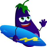 Surfer eggplant Royalty Free Stock Photos