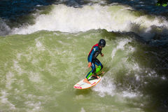 Surfer at the Eisbach Stock Images