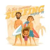 Surfer en cet été Appréciez-le Image libre de droits
