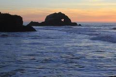 Surfer en San Francisco Lands End Photo stock