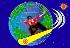Surfer et internet1 Images libres de droits