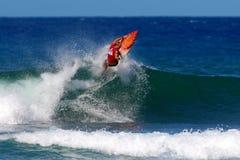 Surfer Flynn Novak Surfing in Honolulu, Hawaii Stock Photography