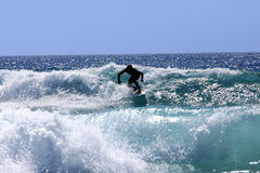 Surfer. Fuertaventura sport wave tropic Royalty Free Stock Photo