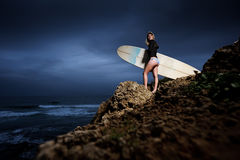 Surfer girl Stock Photos