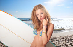 Surfer girl Royalty Free Stock Image