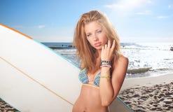 Surfer girl Royalty Free Stock Image