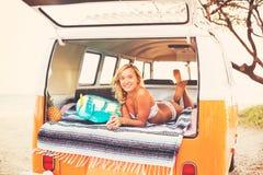 Surfer Girl Beach Lifestyle Royalty Free Stock Photos