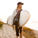 Surfer Girl Royalty Free Stock Images