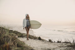 Surfer Girl Royalty Free Stock Photo