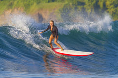 Surfer girl. Royalty Free Stock Image