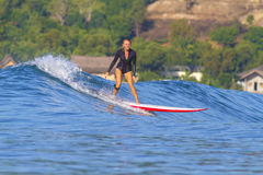 Surfer girl. Royalty Free Stock Images