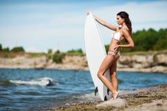 Surfer girl Stock Photos