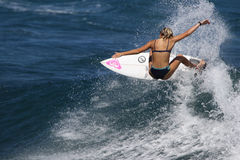 Surfer Girl Royalty Free Stock Photography