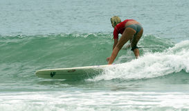 Surfer Girl Surfing Wahine Classic Event Stock Photography