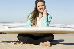 Surfer girl royalty free stock photo