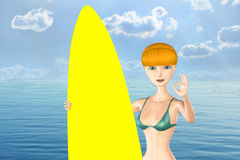 Surfer Girl. Stock Photography