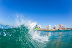 Surfer Girl Water Action Durban Royalty Free Stock Images