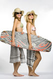 Surfer girls Stock Photography