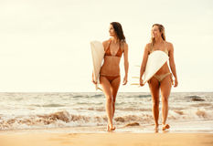 Surfer Girls Royalty Free Stock Photos