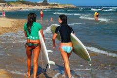 Surfer Girls Royalty Free Stock Image