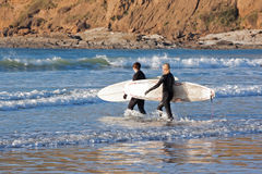 Surfer Girls Royalty Free Stock Images